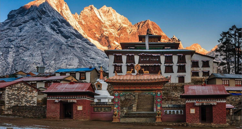 tengboche monasterio en Nepal everest